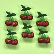 DRESS IT UP Buttons Cherries 9386 - Cherry Glitter Embellishments