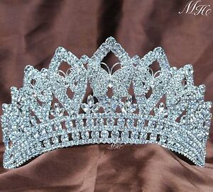 Butterfly Wedding Tiaras Pageant Crowns Rhinestones Crystal Prom Party Hairbands