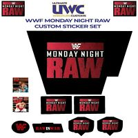 WWF/WWE Hasbro Monday Night Raw is War Custom Sticker Set Wrestling Retro