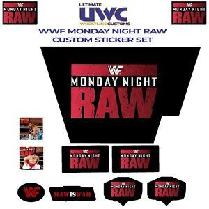 WWF/WWE Hasbro Monday Night Raw is War Custom Sticker Set Wrestling Retro