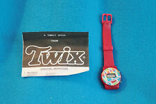 """VINTAGE """"KEEP ON MOVIN WTH TWIX"""" WATCH - RED - NEW - NEEDS BATTERY"""