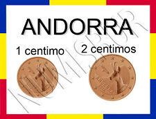 1 + 2 Cent Andorra 2014 - die beiden seltensten Eurokursmünzen RRR