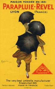 Parapluie Revel 1922 Cappiello Vintage Umbrella Advertising Canvas Print 24x40
