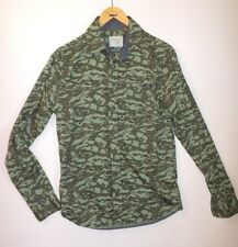 Mens BLEND GLOBAL JEANSMAKER Long Sleeved Shirt Size S Camo Green