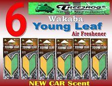 6 Packs Treefrog Wakaba YOUNG LEAF Car Air Freshener NEW CAR Scent JDM