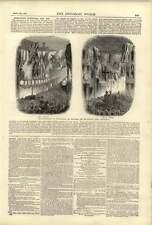 1874 Worcester Cathedral Illuminations Reopening South Carolina Rice Plantation