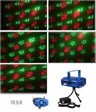 6 in 1 LED Laser Bühnenlicht Disco Party Lichteffekt Licht Lampe Projektor GX6H