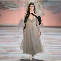 Womens New Dress Tempest Ballet Dress V-neck Women Spring Full Long Dresses Chic