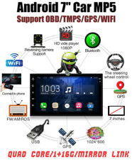 """2 DIN 7"""" Car Radio Stereo TMPS MP5 Player OBD Android Quad Core GPS Nav WIFI RDS"""