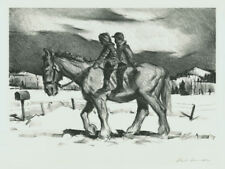 """An original Paul Sample lithograph titled: """"Rural Delivery"""", pencil signed"""