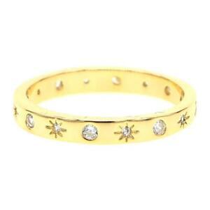 """Damen Ring """"Shiningstar""""18K Gold vergoldet Zirkonia DJADEE R5599D1"""