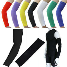Jn_ Be_ Elastic Solid Sport Protector Cycling Basketball Gym Arm Sleeves Guard