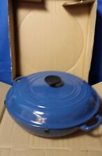 Le Creuset 3.5 Qt Blue Shallow Casserole Dish L2532-309 [SG]