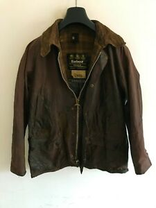 Mens Barbour Bedale wax jacket Brown coat 38in size Small / Medium S/M #7