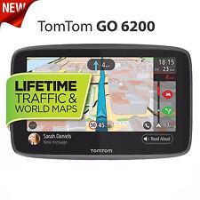 New TomTom GO 6200 GPS Sat Nav Lifetime Traffic Wi-Fi World Map Updates