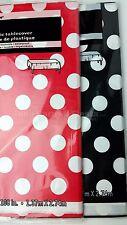 2 Polka Dot Table Cover Mickey Minnie Red Black Polka Dot Covers Mantel Rojo Neg
