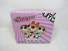 *NEW* Power Puff Girls Salt and Pepper 3 Piece Set w/ Box Great Gift HTF! S3 4