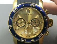 Men's Invicta Pro Diver Chronograph Two-Tone Watch with Gold-Tone Dial 48mm