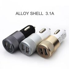 Car Charger 2-Port USB Universal Metalic Shell for iPhone iPad Samsung Huawei