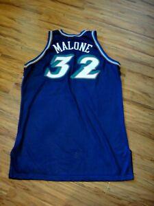KARL MALONE GAME WORN USED 2002-03 UTAH JAZZ JERSEY CUSTOM TAGGING HOF ORIGINAL