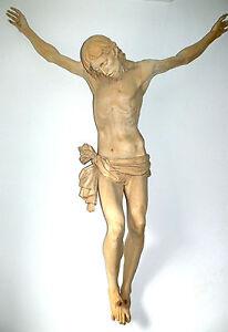 Feldreuz, Kruzifix, Christus-Korpus, Kreuz,Holzgeschnitzt 1 Meter