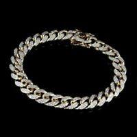 Mens Miami Curb Cuban Link 5.0 Carat Diamond 10K Yellow Gold Bracelet 10MM