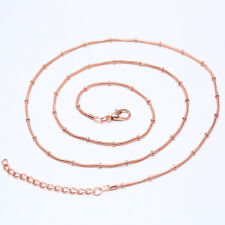 24 inch 1.2mm Snake Chain Necklace Rose Gold/Gold/Silver/Black Fashion Jewelry