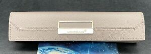 MONTBLANC SARTORIAL POUCH CASE IN TAUPE GRAINED LEATHER FOR ONE FOUNTAIN PEN