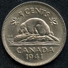 1941 Canada 5 Cent Coin