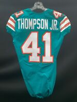 #41 CEDRIC THOMPSON JR. MIAMI DOLPHINS GAME USED THROWBACK NIKE JERSEY 2015