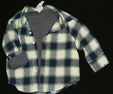 NWT Toddler boy gap babygap 4t  flannel  button up matching long sleeve thermal
