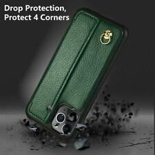 iPhone 11 Pro Max Wallet Case Strap ZVEdeng Card Flip Shockproof Midnight Green