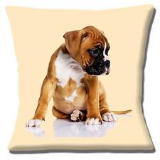 Regordete Boxer Cachorro 40.6cmx40.6cm 40cm Funda de cojín Lindo Marrón Blanco