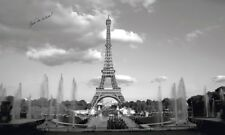 EIFFEL TOWER PREPASTED WALLPAPER MURAL Paris Wall Decor 10.5' x 6' NEW