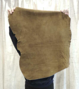 3-4 oz.SADDLE BUFFALO BISON Leather Hide for Native Crafts Moccasins Pouches