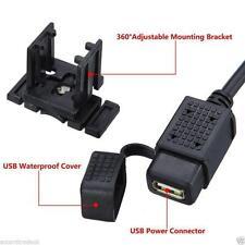 12V USB Power Supply Port Motorbike GPS Mobile Charger Socket UK Seller