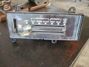 81-87 K5 BLAZER JIMMY C10 PICKUP TRUCK HEATER A/C CONTROLER HEAD UNIT W/ SLIDES