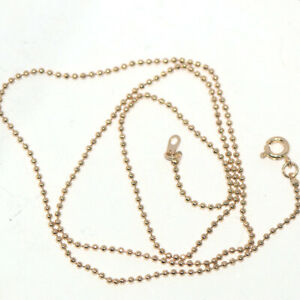 18 Inches Long Yellow Gold Filled Womens Beads Chain Necklace Fashion Jewelry