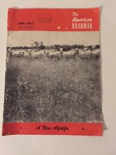 The American Brahman. April, 1953 Copy 25 Cents. A New Alfalfa. Red/Black/White