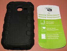 Straight Talk Case Samsung Galaxy Centura/Galaxy Discover, Rugged Black Gel, NEW