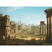 Joli Campo Vaccino Rome Painting Large Canvas Art Print