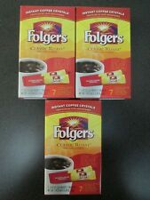 NEW & SEALED Folgers Instant Classic Roast Coffee (3 boxes) total 21 packets