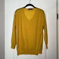 Isabel Marant Yellow Cashmere V-neck Sweater