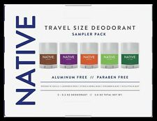 NATIVE Travel Size Deodorant Sampler 5 Pack 0.6 oz Each-Aluminum + Paraben Free
