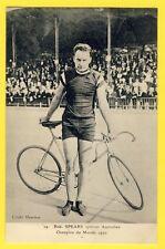 cpa PARIS 1920 CYCLISME Robert SPEARS AUSTRALIAN SPRINTER (Dubbo) Cycliste Vélo