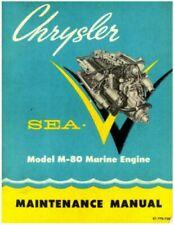 Chrysler SEA-V MODEL M-80 Marine Boat Engine Service Repair Manual