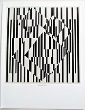 Victor Vasarely Oet-Oet Poster Optical Art Patterns in Black and White  14X11