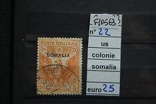 FRANCOBOLLI ITALIA COLONIE SOMALIA USATI N°22 (F10563)
