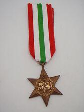 Genuine WW2 Italy Star Medal - Full Size