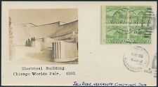 "#728 ""ELECTRICAL BUILDING"" ON BEAZELL FDC CACHET CV $375.00 BR1846"